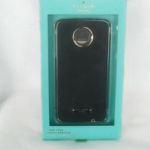 Kate Spade phone case MotoZDroid Black with Silver